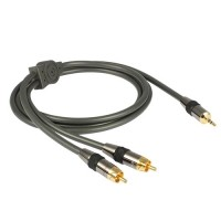 GOLDKABEL Profi 3.5 mm Jack to 2 RCA Stereo